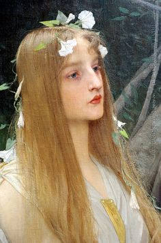 ⊰ Posing with Posies ⊱ paintings of women and flowers - Jules Joseph Lefebvre, detail of Ophelia Pre Raphaelite Paintings, Jean Leon, Beaux Arts Paris, Renaissance Kunst, Old Paintings, Portrait Paintings, Mark Rothko, Portraits, Classical Art