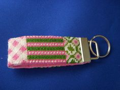 The cutest key chain I was sent to finish for Two's Company Needlepoint