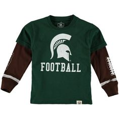 Michigan State Spartans Wes   Willy Toddler Football Fooler Long Sleeve  T-Shirt - Green 85d733bea