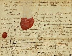 isaac newton personal notes; write whenever you can. you'll appreciate it one day