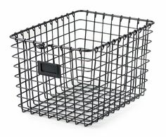 Small Wire Storage Basket, Cool Gray - Set of 6