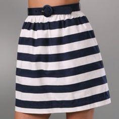 "Spotted while shopping on Poshmark: ""Alice + Olivia Striped High Waist Skirt with Belt""! #poshmark #fashion #shopping #style #Alice + Olivia #Dresses & Skirts"