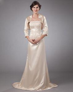 Satin Floor Length Mothers Of Bride Guests Dress