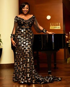 Glitz Style Awards Some Fabulous Dresses - Classic Ghana Nigerian Lace Styles, African Lace Styles, African Lace Dresses, Latest African Fashion Dresses, African Dresses For Women, African Print Fashion, African Attire, Nigerian Dress, African Style