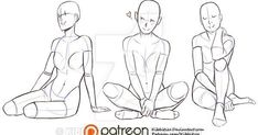 New Drawing Reference Poses Kneeling 26 Ideas Body Sketches, Art Sketches, Art Drawings, Sitting Pose Reference, Art Reference Poses, Drawing Body Poses, Motifs Animal, Anatomy Poses, Sitting Poses