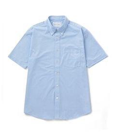 ADAM ET ROPE' HOMME(アダムエロペオム)のCOOLMAX ハニカムカットシャツ(シャツ/ブラウス) サックスブルー