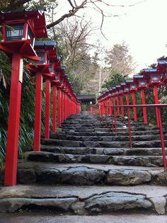 l'escaliers du Kifune Shrine