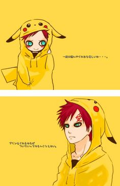 Pika-Gaara <3 It is like two of my favorite characters have become one :D
