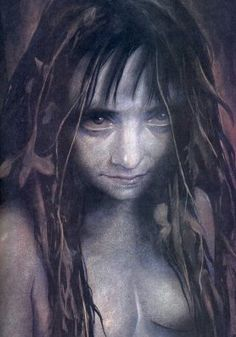 The Fideal - Brian Froud  By the reed-choked edges of lonely lakes, the Fideal wanders through the twilight longing for a lover. Her song is sad yet irresistibly seductive. Her kiss is cold, tasting of earth. Her hands caress you, hold you, pull you