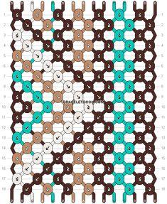 Normal friendship bracelet pattern variation added by pattncraft. Diy Bracelets Easy, Thread Bracelets, Bracelet Crafts, String Bracelet Patterns, Diy Friendship Bracelets Patterns, Crochet Bracelet, Bracelet Designs, Bracelet Making, Art And Craft