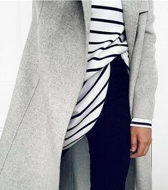 grey + stripes + denim