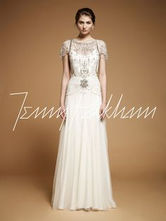 "Beautiful vintage style wedding gown. ""Damask"" by Jenny Packham."