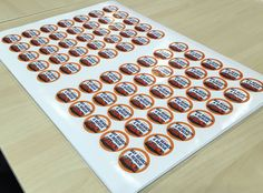 Self adhesive paper stickers for Bay Search and Rescue
