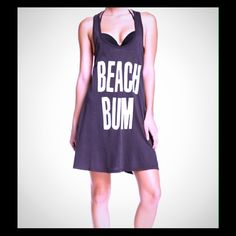 WILDFOX beach bum tank dress black SMALL New with tags...WILDFOX slouchy BEACH BUM tank dress...final price unless bundled...two available! Size SMALL Wildfox Dresses