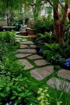 Conserv-A-Stone Flexstone Landscape Stone - - The Conserv-A-Stone Flexstone Landscape Rubber Garden Stepping Stones are perfect for garden walkways and courtyards. The Best alternative for real stone. Amazing Gardens, Beautiful Gardens, Beautiful Flowers, Patio Plus, Garden Stepping Stones, Paving Stones, Design Jardin, Landscape Materials, Landscape Designs