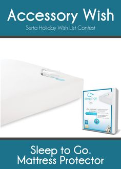 Protect your mattress with a Sleep to Go Mattress Protector. Gotta protect the nice Serta  mattress!
