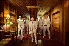 The men suits, minus the shoe, add green ties. Mens Wedding Attire Summer, Wedding Men, Plan My Wedding, Our Wedding, Wedding Ideas, Wedding Things, Wedding Stuff, Beautiful Day, Real Weddings