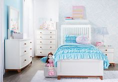 Shop for a Gio Cream 5 Pc Twin Slat Bedroom at Rooms To Go Kids. Find  that will look great in your home and complement the rest of your furniture.