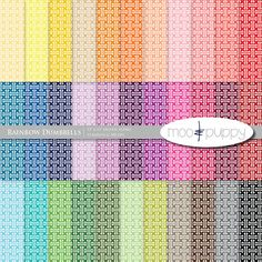 Rainbow Digital Scrapbook Paper