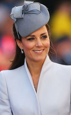 Classic from Duchess Catherine's Hats & Fascinators  She keeps it classic with a dove gray, teardrop-shaped Jane Taylor design at Queen Elizabeth II's 2014 birthday parade.
