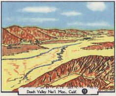 Vintage Illustration of Death Valley National Monument as seen on the 1958 AAA California and Nevada map.