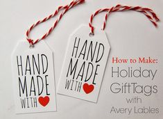 Smashed Peas and Carrots: TUTORIAL: How to Make Holiday Gift Tags with Avery Labels {with FREE Printable!}