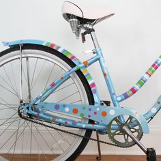 If my bike wasn't such a rusty piece of junk, I would totally cover it with these polka dot decals.