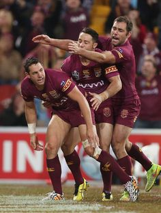 Footy Players: Billy Slater of the Maroons Rugby League, Rugby Players, Cameron Smith, Rugby Shorts, Australian Football, Rugby Men, Hard Men, World Rugby, Beefy Men