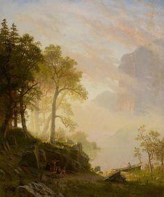 The Merced River In Yosemite By Albert Bierstadt