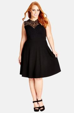 City Chic 'Lace Love' Fit & Flare Dress (Plus Size) | Nordstrom