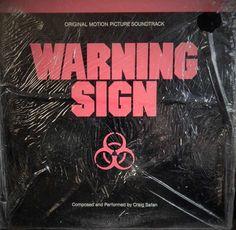 "WARNING SIGN 12"" VINYL LP ORIGINAL SOUNDTRACK (1985 MUSIC CRAIG SAFAN) SCI-FI HORROR CULT ITEM"
