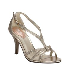 Paradox London Pink Strappy glitter `Vibrant` sandals, Gold
