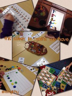 Counting activities in class this week