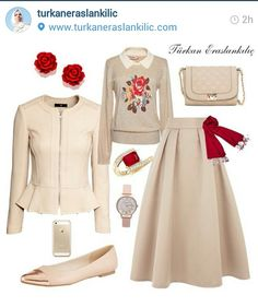 T rkan Eraslank l Do ru Kombin Nas l Yap l r Stylish Work Outfits, Modest Outfits, Classy Outfits, Skirt Outfits, Casual Outfits, Muslim Fashion, Hijab Fashion, Fashion Dresses, Moslem