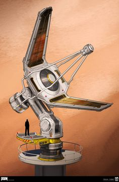 DOOM - Satellite Dish by MeckanicalMind on DeviantArt Futuristic Art, Futuristic Architecture, Terrain 40k, Cyberpunk Anime, Anime City, Space Engineers, Satellite Dish, Prop Design, Game Concept