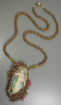 Lisa Kan Designs: Beadwork (3/5) with Kelly Russell's polymer clay inset