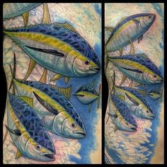in progress but awesome start on these yellow fin tuna inkedmagazine yellowfin tuna fish. Black Bedroom Furniture Sets. Home Design Ideas