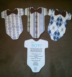 Baby shower invitations-DIY  I have the Cricut cartridge to make these