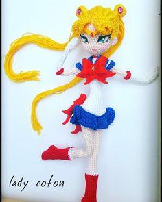 Sailor moon entièrement fait à la main crochet by Ladycotonbyme