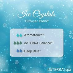 I've Crystals diffuser blend, aromatouch deep blue, balance