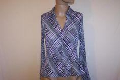 Shirt Top Blouse SUNNY TAYLOR Front Buttons Long Sleeves Acordian Pleats Sz S #SunnyTaylor #ButtonDownShirt #Career
