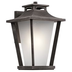 Sumner Court 1 Light Extra Large Outdoor Wall Lantern in Weathered Zinc (WZC)