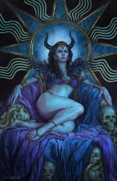 Lilith, Diana Van Damme on ArtStation at https://www.artstation.com/artwork/1BKyX