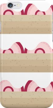 Strawberrry Shortcake Pastry Dessert iPhone Case and other products available on Redbubble!