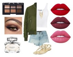 """Untitled #51"" by sparkling-saphire ❤ liked on Polyvore featuring T By Alexander Wang, Vince, Topshop, John Hardy, BCBGeneration, Lime Crime, Gucci and NARS Cosmetics"