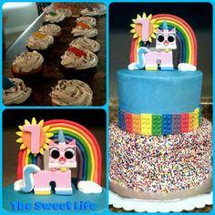 Unikitty birthday cake Girls Lego Party, Lego Girls, Lego Friends Birthday, Birthday Parties, Birthday Cake, Girl Scouts, Cake Ideas, Party Time, Charlotte