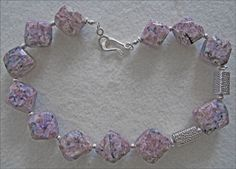 Lilac Charoite Chunky Nugget & Sterling Silver Necklace - pinned by pin4etsy.com