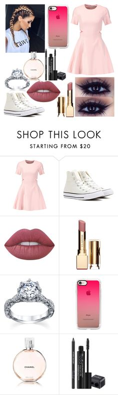 """""""Pastel. 😍😘"""" by blooberry303 ❤ liked on Polyvore featuring Elizabeth and James, Converse, Lime Crime, Clarins, Casetify, Chanel and Rodial"""