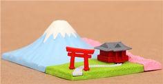 Mount Fuji Japan temple Iwako erasers set 3 pieces