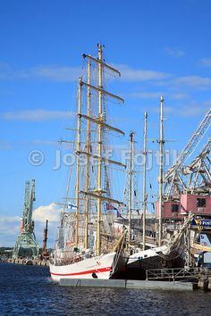 Tallships in port of Kotka, Finland